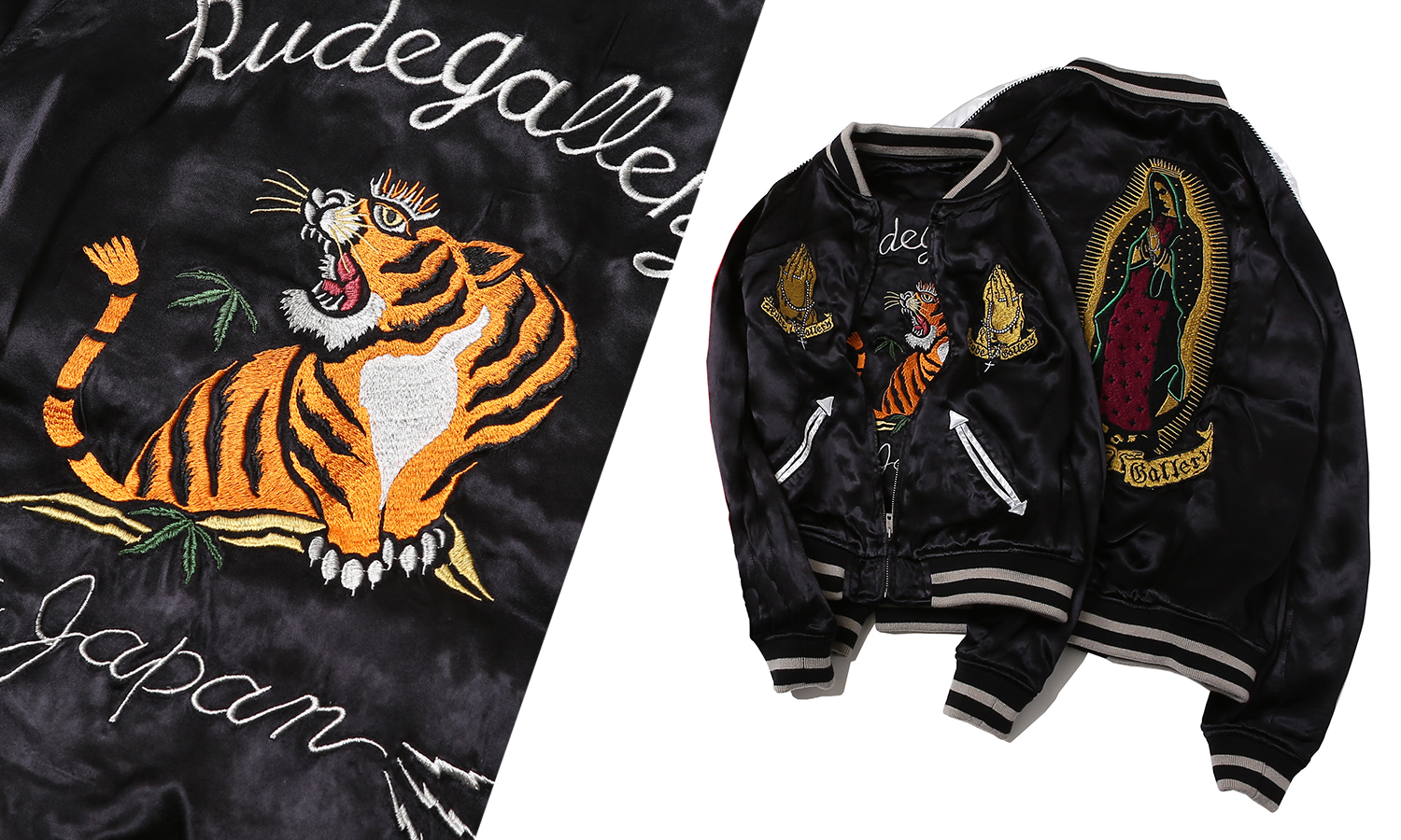 RUDE GALLERY -STONED TIGER x MARIA SOUVENIR JACKET-