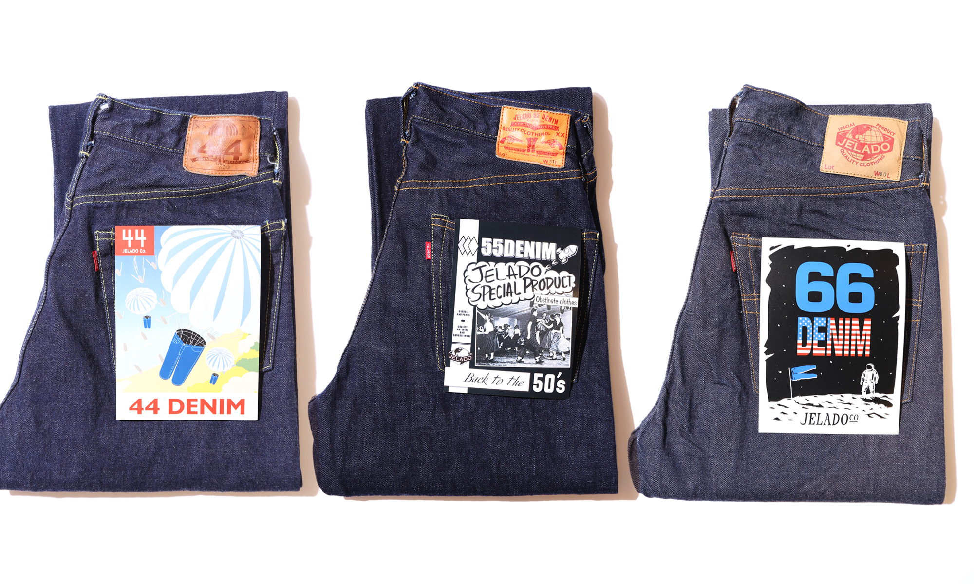 JERADO -5 POCKET DENIM PANTS inspired by vintage-