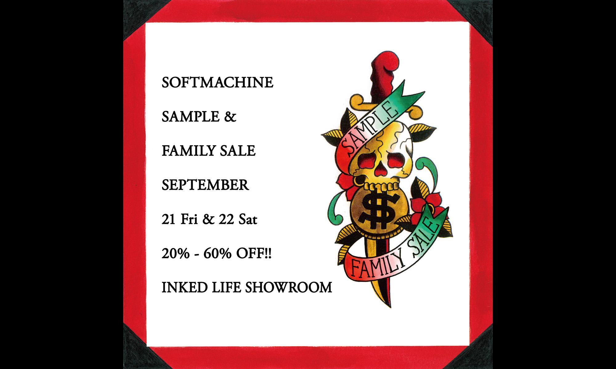お値打ち価格でアイテムをゲット! SOFTMACHINE -SAMPLE & FAMILY SALE-