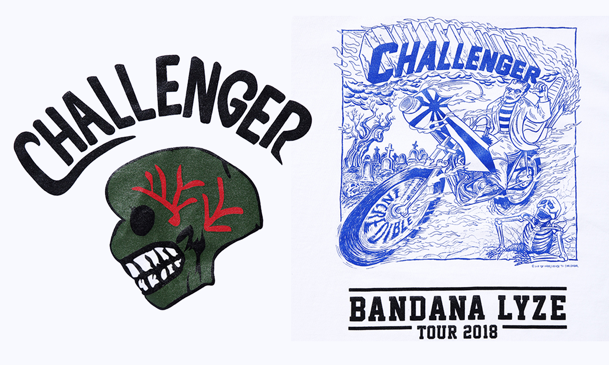 CHALLENGER -GRAPHIC & BANDANA TEE-