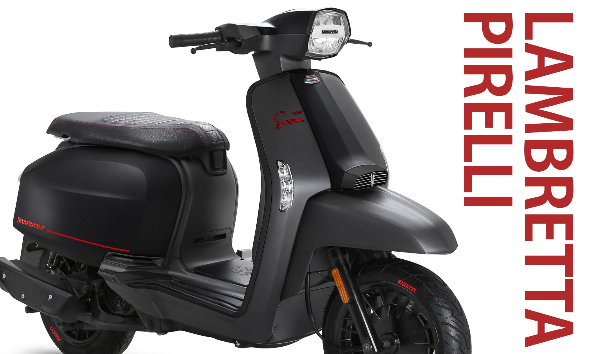 スタイリッシュなブラックボディが輝くプレミアム限定バイク LAMBRETTA -PIRELLI EDITION-